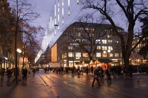 Bahnhofstrasse before Christmas